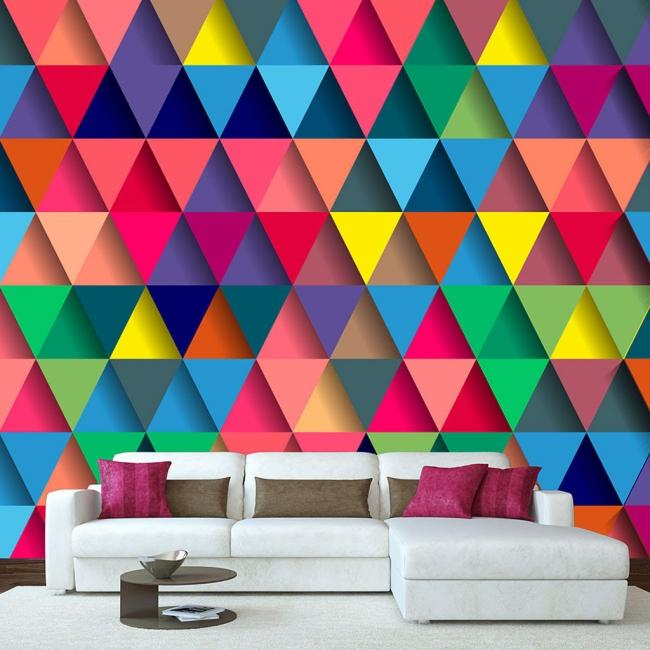 aqua paper papier peint intiss lessivable pr encoll. Black Bedroom Furniture Sets. Home Design Ideas