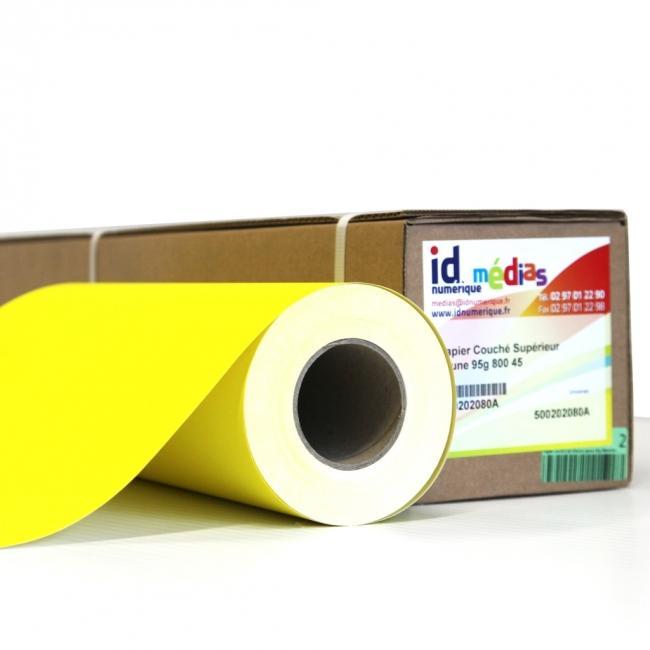 Rouleaux de papier jaune couch jet d 39 encre pour affiches promotionnelles magasins id num rique - Papier couche brillant 135g ...