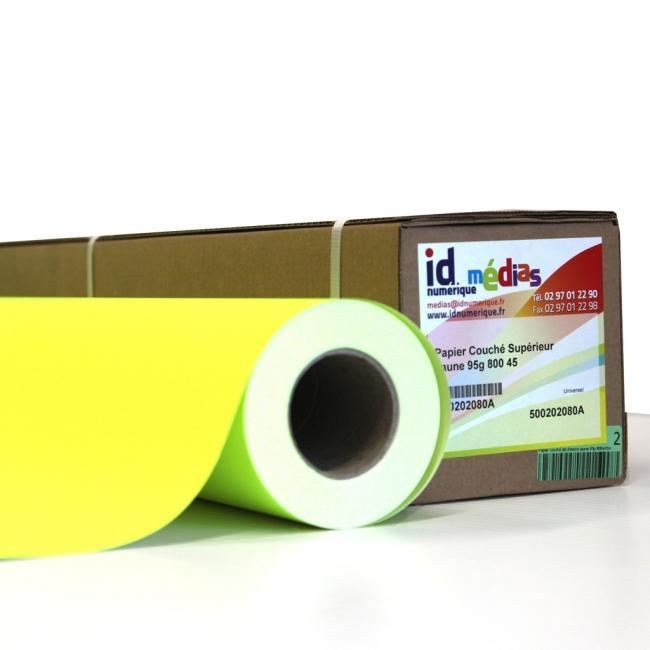 Papier couch jaune fluo 95g support pour affiche supports id num rique - Papier couche brillant 135g ...